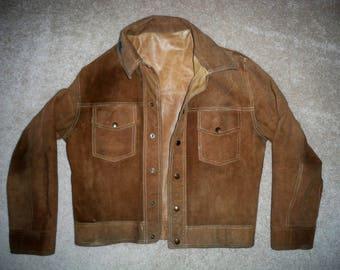Vintage Leather Hot Rod Rockabilly Reversible Motorcycle Jacket Car Club Men's Size Medium