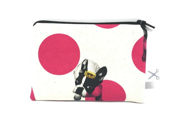 Mini zipper pouch Crowned Dogs