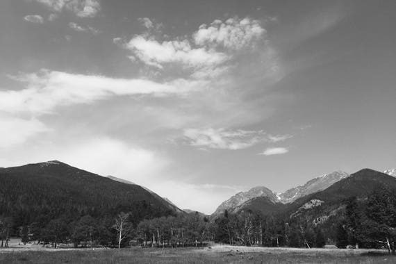 West View RMNP Black and White Fine Art Photography Print