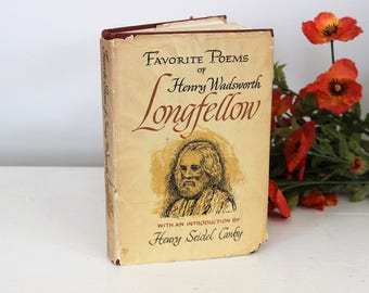 "Vintage 1960s  Book / ""Favorite Poems of Henry Wadsworth Longfellow"" / Henry Seidel Canby / Doubleday 1967 / Classic Literature / Old Book"