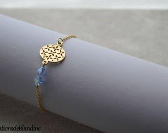 """Tina"" swarovski bracelet and plated gold tone lilac"