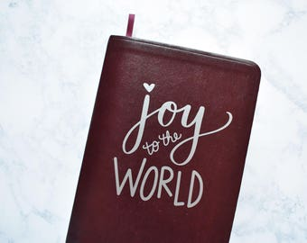 Scripture Cover Decals //Joy to the World// Vinyl Non-Permanent Scripture Cover for Bible, Book of Mormon, or Standard LDS Quad