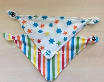 """9"""" Stars and Stripes bandana bibs 2 pack"""