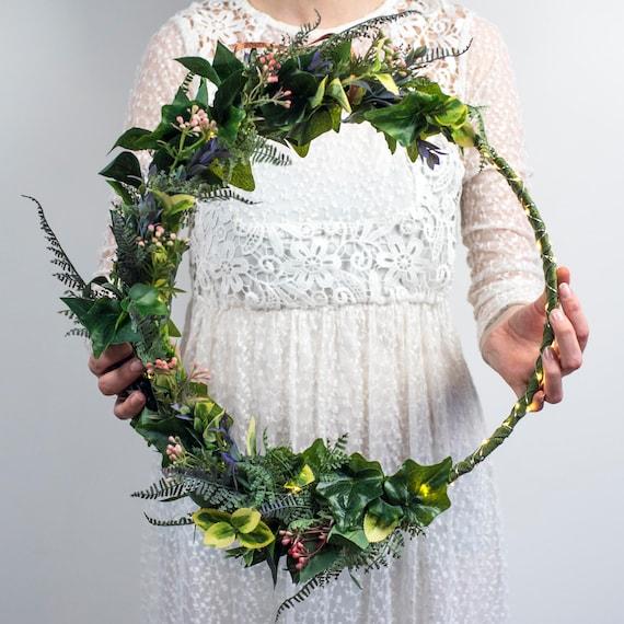 Custom floral wedding hoop wedding bouquet bridesmaid like this item junglespirit Images
