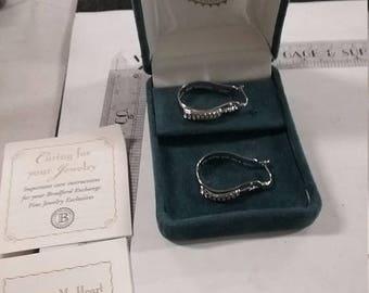 10% OFF 3 day sale Vintage used  Bradford  Sterling Silver .925 earrings