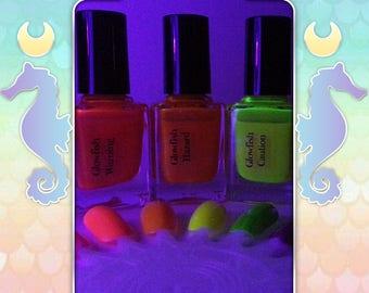 Glowfish - A UV reactive hyper bright florescent nail polish
