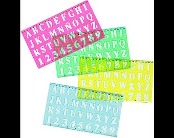 Template letters / numbers incl. Lineal