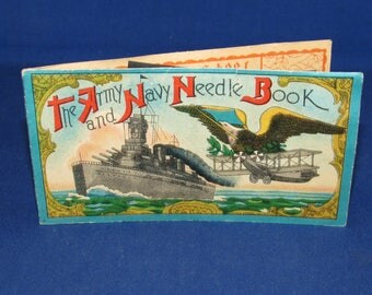 The ARMY NAVY NEEDLE Book Made in Occupied Japan 50s
