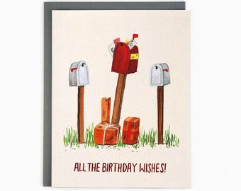 All the birthday wishes - greeting card