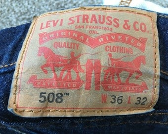 Vintage Levi's LEVI STRAUSS 508 Jeans Made in Mexico Size 36/32