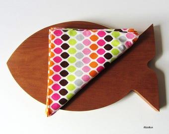 Napkins cloth napkins table coasters placemats dots 2pcs set of two