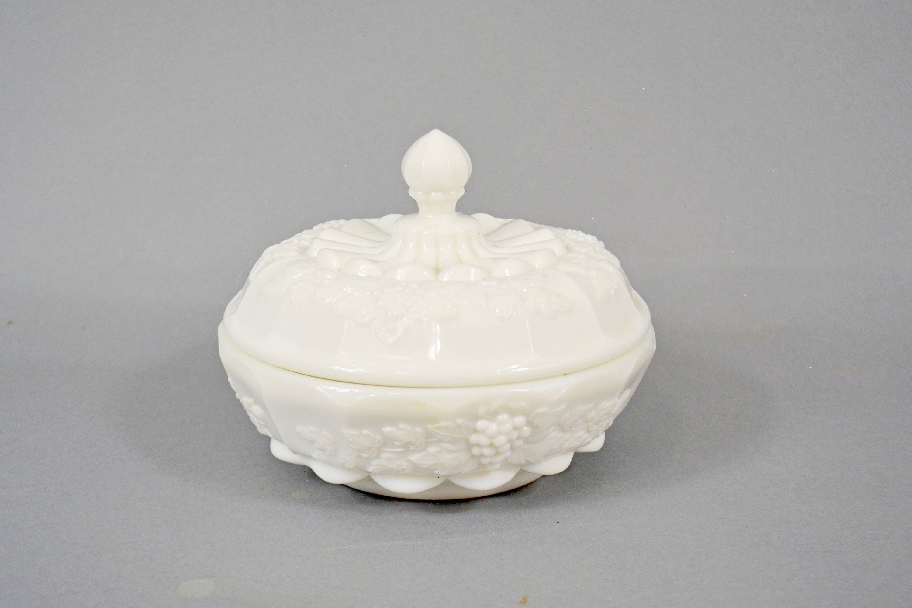 Westmoreland Candy Dish White Milk Glass Candy Dish with Lid