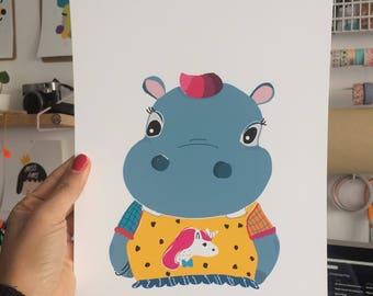 "Print ""hip hip hippo"""