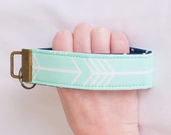 Key Fob Wristlet -  Mint Arrow