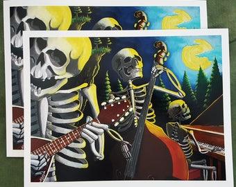 Free Shipping Bone Men Trio #2//10x13 print