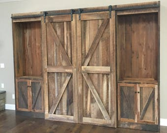 Barn Door Tv Cover Etsy