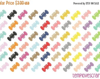 Weekend Sale 60 work out Dumbell Stickers for your planner or scrapbooking.