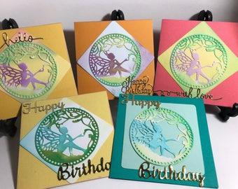 Box of 5 Fairy Garden themed cards