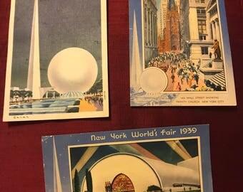 1939 New York World's Fair Post Cards
