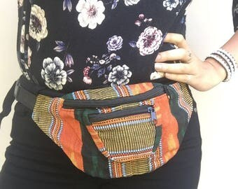 Warm Tones Fanny Pack - Hip pack - Handmade in Guatemala (010F)