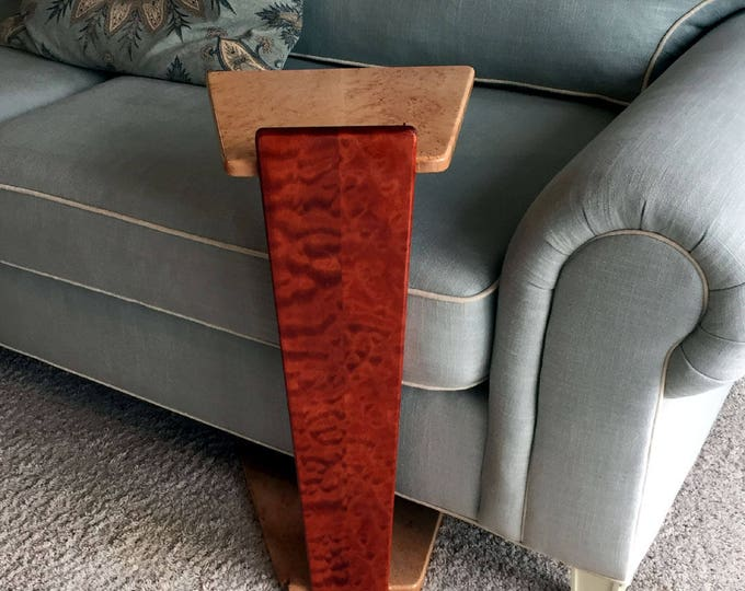 Perching Table - Quilted & Birdseye Maple