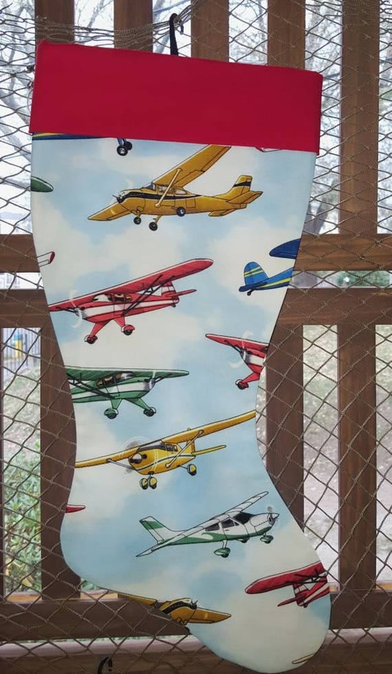 Plane Christmas Stocking