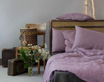 Lavender Linen Double Duvet Cover/ Softened Linen/ Linen Bedding/ Linen for Bedroom/Natural Linen
