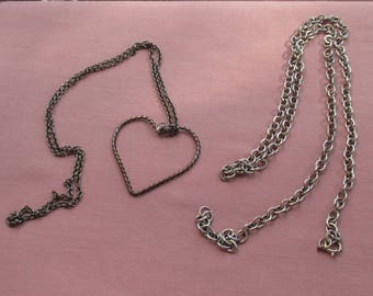 Retro Heart Shaped Necklace & Metal Chain