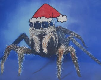 Christmas Card Print - Spider Claus