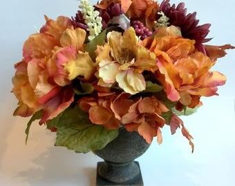 Fall Floral Arrangements, Fall Centerpiece, Autumn Centerpiece, Fall  Centerpiece For Table, Thanksgiving Floral Arrangement, Fall Flowers