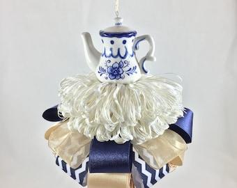 Farmhouse teapot decorative tassel