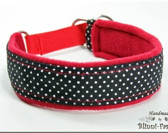 Dog collar MAJA, Martingale, brown