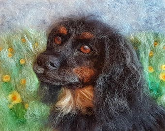 Personalised Pet Portraits, Needle Felt Picture, Handcrafted, Unique, OOAK, 3D Wall Art, Needle Felt Animal, Animal Art, Felted Pets