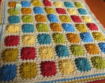 Jellybean multi coloured baby/toddler Blanket/Afghan/Throw