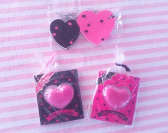 Lot 2 Erasers + Gifts Vintage 80s Hearts