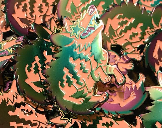 Hyped Hyena - Soft Enamel Rainbow Pin