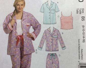 Destash - UNCUT McCall's Pattern Women's EASY Pajama Pattern - 4 Piece Pajama Set - M5990 - Size 8-16
