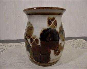 """1979 Apple Lane Pottery 5"""" high Flared Rim Vase ~ 1979 Hand Turned Signed Apple Lane Studio Art Pottery Vase"""