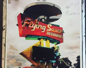 "Flying Saucer  (12""x12"")"