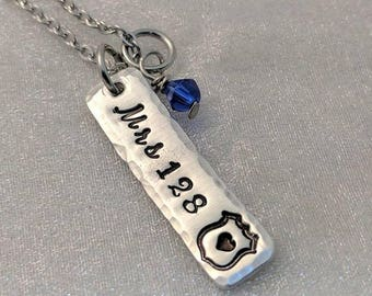 Police Wife Necklace - Gift for Police Wife - Police Badge Jewelry - Gift for Her - Police Wife Charm - Personalized Police Wife Jewelry