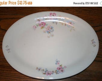 Sale Edwin M Knowles Semi Vitreous Oval Serving Platter Large 45-11