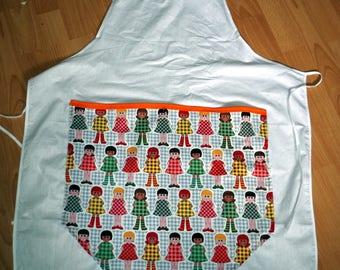 apron pocket, little girls