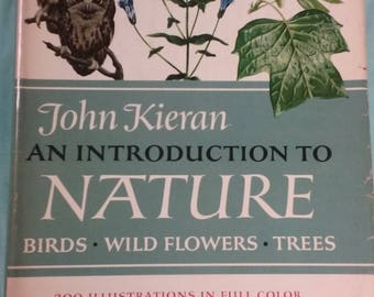 Vintage Nature  Book Birds Trees Wildflowers 300 Illustrations 1966 Gorgeous