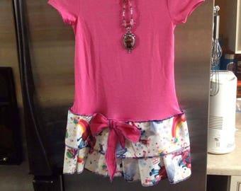 4t girls upcycled Troll dress