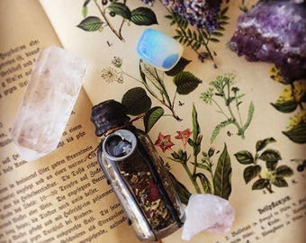 Witch Spell Bottle_Protection Spell_Sleep Spell_Clarity Spell_Curiosities