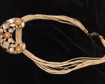 French 1980's enamelled pendant