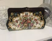 70s Floral Tapestry Purse / Clutch