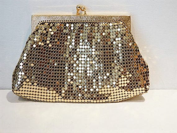 Whiting Davis Gold Enamel Mesh Coin Purse