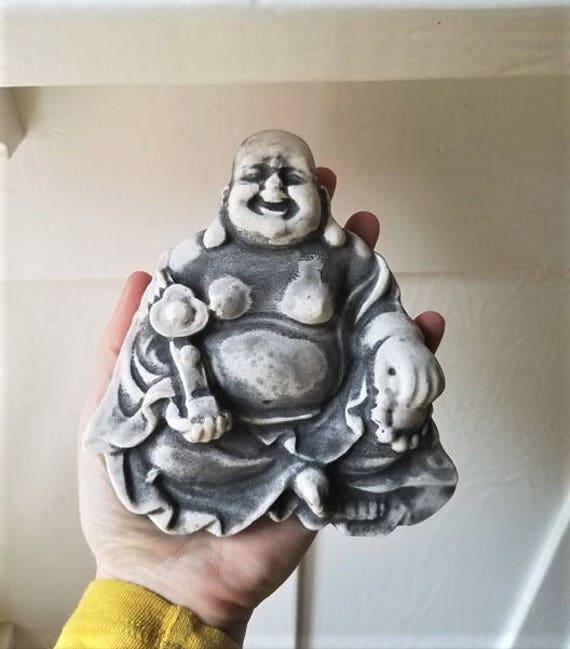 Buddha wall plaque, happy Buddha sculpture, good luck Buddha gift