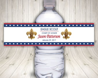 ON SALE!!  Eagle Scout Water Bottle Labels